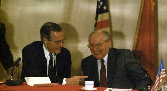 This Day In Market History: Bush, Gorbachev Suggest An End To The Cold War