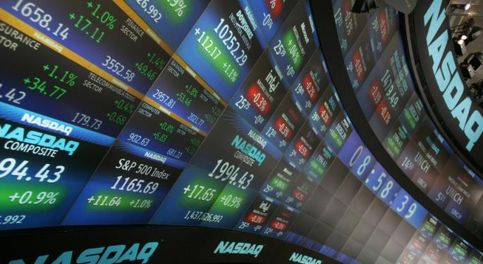 Mid-Morning Market Update: Markets Go Red; Tiffany Q2 Net Profit Surges 16%