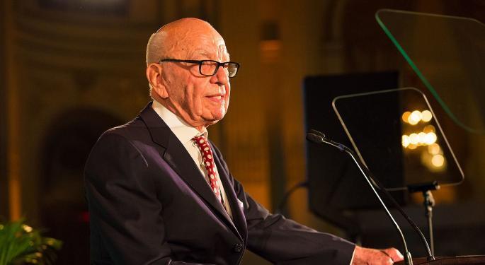 Murdoch Buys 500,000 Shares Of Fox