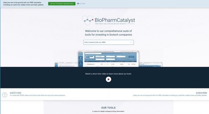 BioPharmCatalyst: A Research Tool For A Volatile Sector