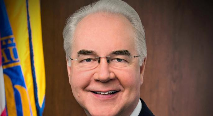 HHS Secretary Tom Price Heads For Departure Gate After Private Plane Scandal