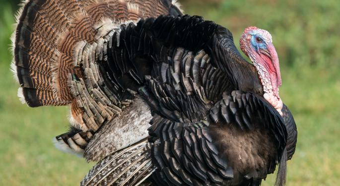 ETFs for Turkey Day PBJ, IYT, XRT, TUR