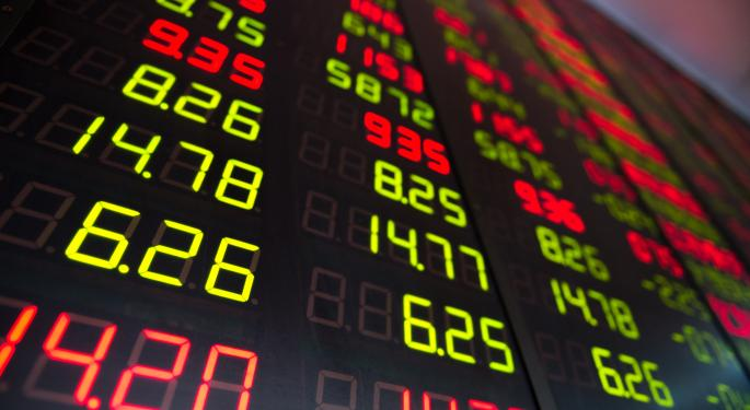 Mid-Morning Market Update: Markets Drop; Goldman Sachs Results Beat Estimates