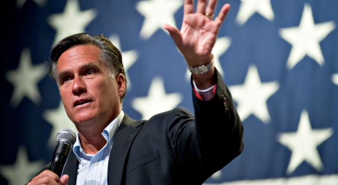 Are Financials Pricing in a Romney Win?