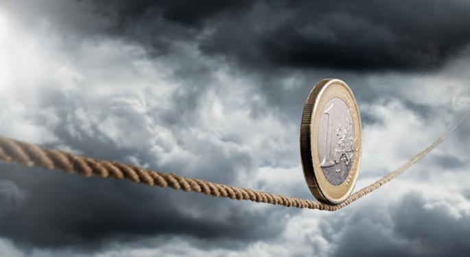 Euro Down as Eurozone Problems Worsen