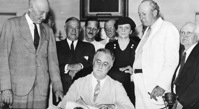 This Day In Market History: US Social Security Act Is Signed