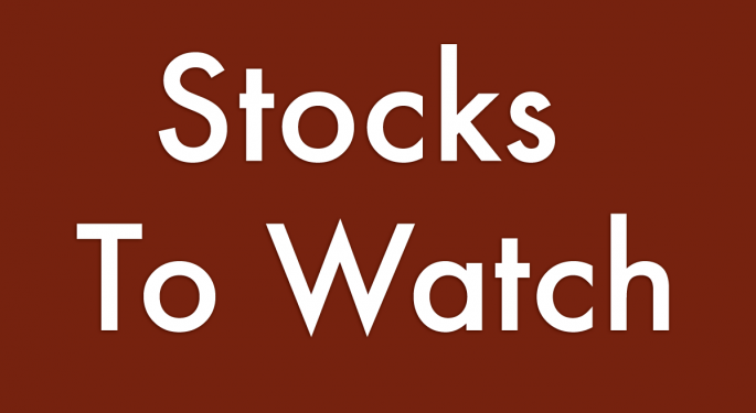 12 Stocks To Watch For May 31, 2018