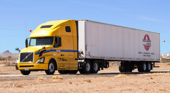 Carrier Operating Ratios Fall in October in a Cooling Freight Market